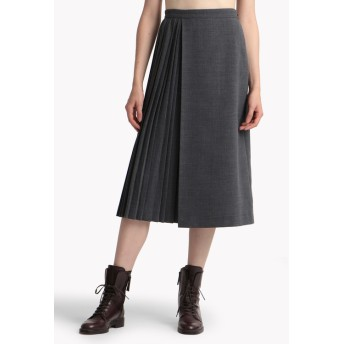 【Theory】New Poly Pleat Wrap Pleat Skirt