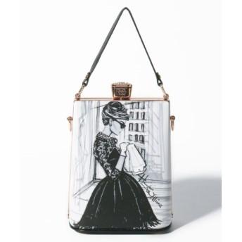(axes femme/アクシーズファム)香水瓶型ハンドバッグ/レディース ブラック 送料無料