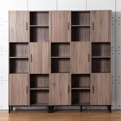 D&T 德泰傢俱 BROOK淺胡桃木6.7尺書櫃 (201.5x40x200cm)