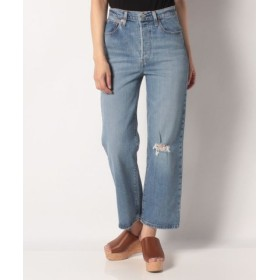 (LEVI'S OUTLET/リーバイス アウトレット)RIBCAGE STRAIGHT ANKLE HATER'S GONNA H/レディース ライトインディゴブルー