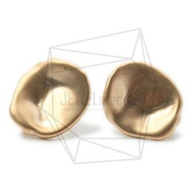 ERG-1002-MG【2個入り】ハンマードラウンドピアス/Hammered Round Post Earrings