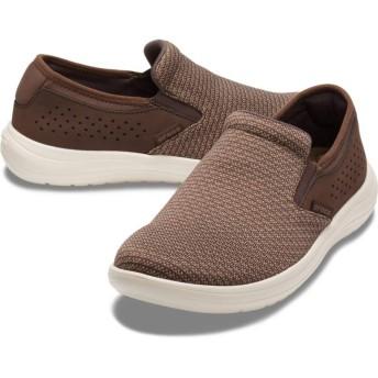 【クロックス公式】 クロックス リバイバ スリップオン メン Men's Crocs Reviva Slip-On メンズ、紳士、男性用 ブラウン/茶 25cm,26cm,27cm,28cm,29cm shoe 靴 シューズ