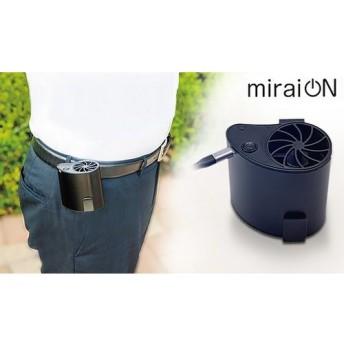 ベルトなどに装着して送風するまったく新しいひんやり家電。コンパクト&USB充電式で持ち運びに便利。アウトドアや夏祭りなどで活躍《小型扇風機 ベルトフック付きファン CN-KFAN-BK》 家電 空調・季節家電 サーキュレーター・扇風機 au WALLET Market