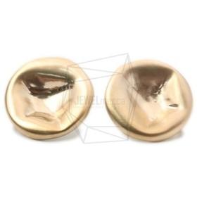 ERG-1006-MG【2個入り】ハンマードラウンドピアス/Hammered Round Post Earrings
