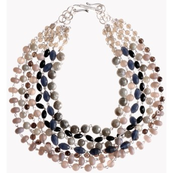 【Theory】Kong qi Color Stone Necklace