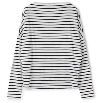 ESTNATION / ボーダーロングスリーブTシャツ ライトホワイト/38(エストネーション)◆レディース Tシャツ/カットソー