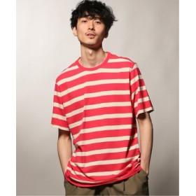 (JOURNAL STANDARD/ジャーナルスタンダード)POP TRADING COMPANY/ポップトレーディングカンパニー BIG STRIPE Tシャツ/メンズ ピンク