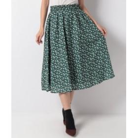 (CECIL McBEE/セシルマクビー)小花柄スカート/レディース グリーン