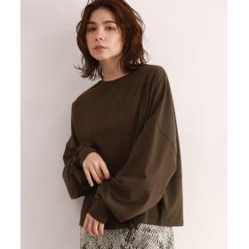 OZOC(オゾック) [洗える]ボリューム袖ロングTシャツ