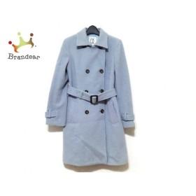 ミッシェルクラン MICHELKLEIN コート サイズ38 M レディース 美品 ライトブルー 冬物 新着 20190812
