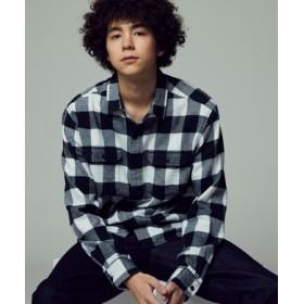 Levi's クラシックチェックワークシャツ メンズ ホワイト