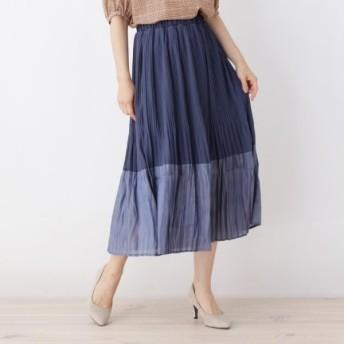 [マルイ]【セール】ジョーゼット×サテン配色消しプリーツスカート/イッツデモ(ITS'DEMO)