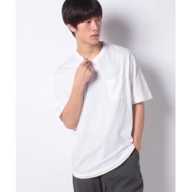 コエ e ラウンドスリットVネックtee メンズ ホワイト M 【koe】