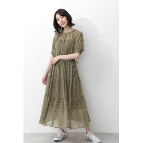 NATURAL BEAUTY BASIC 小花ティアードワンピース