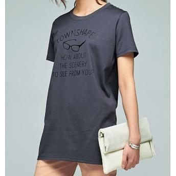 50%OFF【レディース】 プリントロングTシャツ - セシール ■カラー:ダークグレー ■サイズ:S