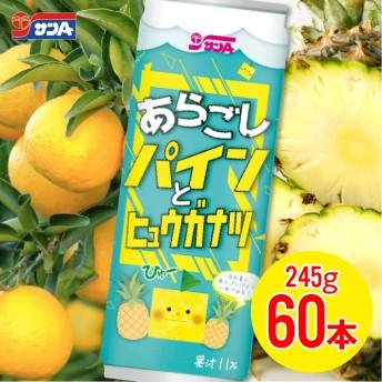サンAあらごしパインとヒュウガナツ60本セット(30缶入×2ケース)