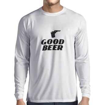 lepni.me 男性用長袖Tシャツ 私は良いビールが必要です - ビール恋人、バー、パーティーの服のためのおかしい (S ホワイト 黒)