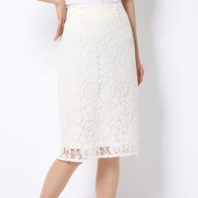 ミーア MIIA レースタイトスカート (オフホワイト)