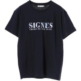 【5,000円以上お買物で送料無料】mens オリエンタル柄ワイドロゴプリントTシャツ