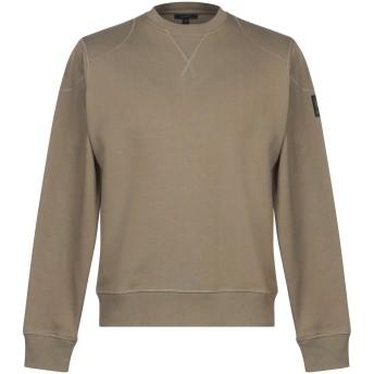 《期間限定セール開催中!》BELSTAFF メンズ スウェットシャツ ミリタリーグリーン S コットン 100%