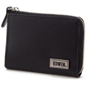 (エドウィン) EDWIN ロゴプレート付きデザインコインケース ブラック