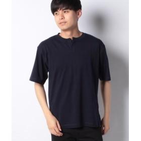 (koe/コエ)ヘンリーネックTシャツ/メンズ ネイビー