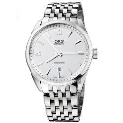 ORIS豪利時 ARTIX 天文台日期機械錶-銀/42mm 0173776424071-0782180