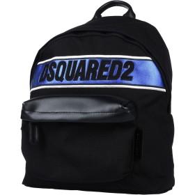 《期間限定 セール開催中》DSQUARED2 メンズ バックパック&ヒップバッグ ブラック ナイロン 90% / 革 10%