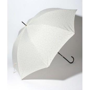 (pink trick/ピンクトリック)BE SUNNY ビーサニー ノーマル長傘 ハートキャッチ (晴雨兼用 UVカット 耐風 軽量 撥水)/レディース オフホワイト