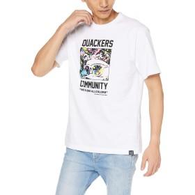 DUCK ダック バック ロゴ T シャツ L ホワイト その他 メンズ