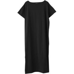 AquaGarage(アクアガレージ)Tシャツワンピース ブラック ロング: L