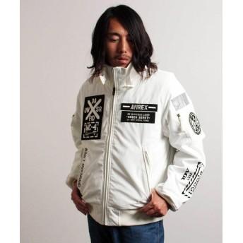 アヴィレックス MA 1 モデファイ ハロ/MA 1 MOD HALO メンズ WHITE XXL 【AVIREX】