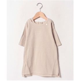 petit main 衿スリットTシャツワンピース(生成り)【返品不可商品】