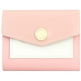 powlance 財布 PUレザー 小銭入れ ミニ財布 レディース カード キーケース コインケース カードケース 二つ折り フラップボタン 小さい財布 レディース かわいい カード