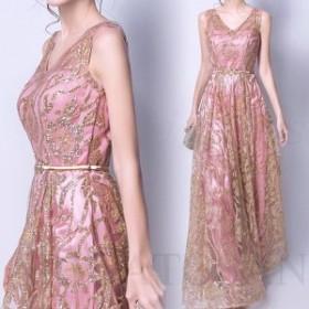 ロングドレス ウェディングドレス 結婚式ドレス パーティードレス カラードレス 姫系ドレス 二次会 パーティー 演奏会 発表会 撮影用 花