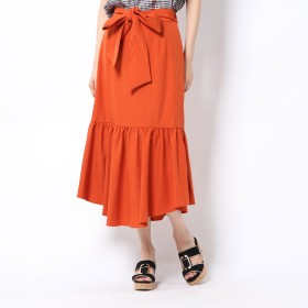 ミーア MIIA ベルト付きマーメイドスカート (オレンジ)