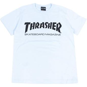 (スラッシャー) THRASHER 半袖 Tシャツ TH8101 (L, LBB:ライトブルー X ブラック)
