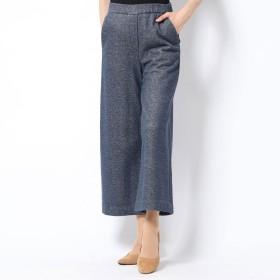 リネーム Rename スウェット素材デニム風飾りポケットパンツ (ブルーグレー)