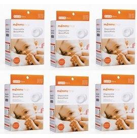 【淘氣寶寶】媽咪小站 -平面防溢乳墊/防溢乳墊32入*6組 (單片無菌包裝)