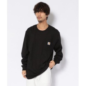 (UNCUT BOUND/アンカットバウンド)carhartt(カーハート) Workwear Pocket Long-Sleeve T-Shirts ポケットロングTシャツ/メンズ BLACK
