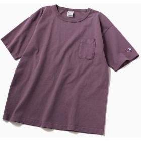 シップス Champion: ガーメントダイ ポケット Tシャツ <MADE IN USA/T1011> メンズ パープル MEDIUM 【SHIPS】