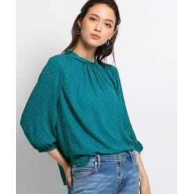 INDIVI(インディヴィ) ◆[S]スロープジオメトリックプリントシャツ
