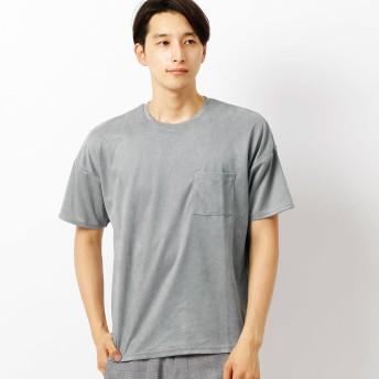 (コムサ イズム) COMME CA ISM フェイク スエード Tシャツ 47-60TI04-108 M グレー