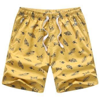 Xinvision サーフパンツ ハーフパンツ ショートパンツ コットン 五分丈 速乾 男性パンツ ファション カジュアル ゆったり 通気性 夏 無地