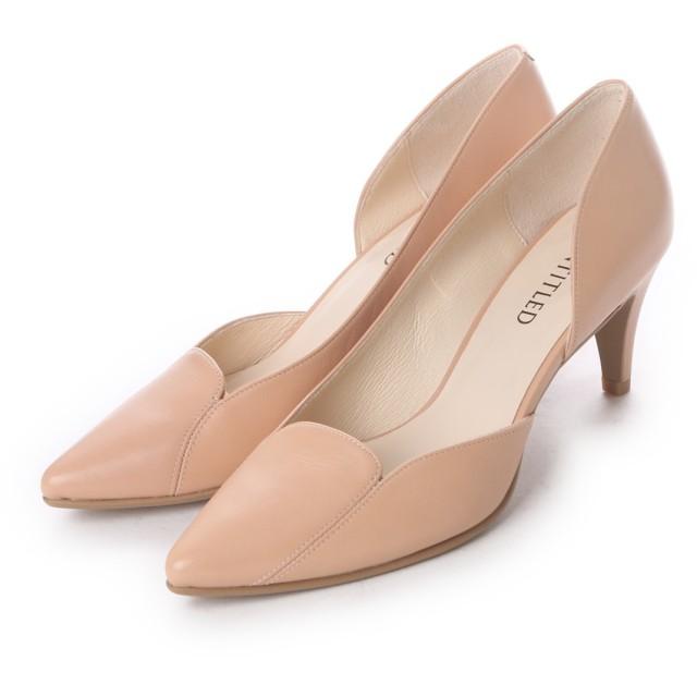 アンタイトル シューズ UNTITLED shoes ポインテッドトゥパンプス UT6211 (ライトベージュ)