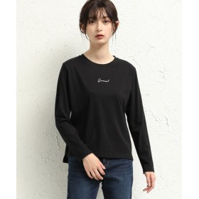 【5%OFF】 ハニーズ 刺繍ロゴTシャツ レディース ブラック S 【Honeys】 【タイムセール開催中】