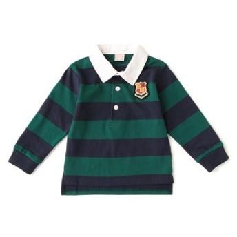 プティマイン(petit main)/エンブレムワッペンつきラガーシャツ
