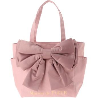 メゾンドフルール Maison de FLEUR ビッグリボンMトートバッグ (Pink)