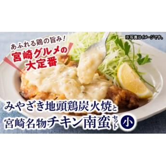 みやざき地頭鶏炭火焼とチキン南蛮(小)(セット)