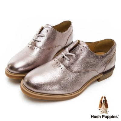 Hush Puppies Bailey 女牛津鞋-香檳金